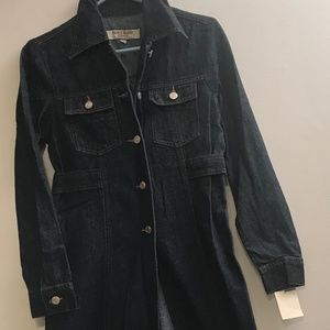 NEW Paris Blues Long Denim Coat/Jacket Woman Small